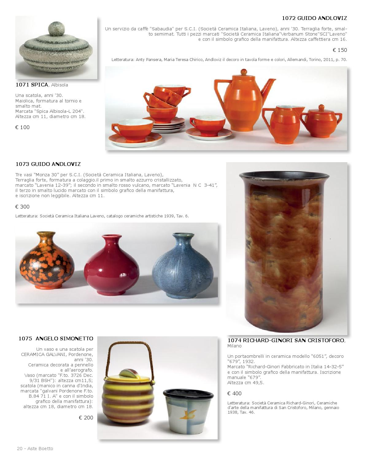 Ceramiche D' 1503 By Aste Boetto Issuu