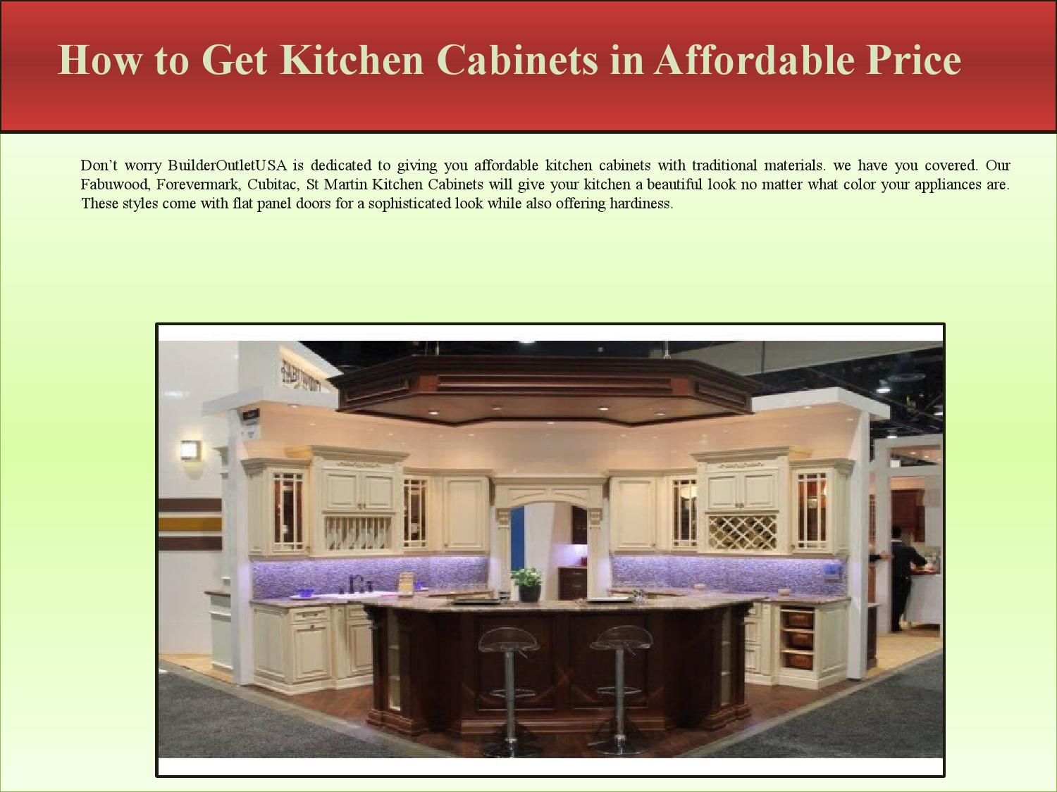How To Get Cheap Kitchen Cabinets How To Get Kitchen Cabinets In Affordable Price By