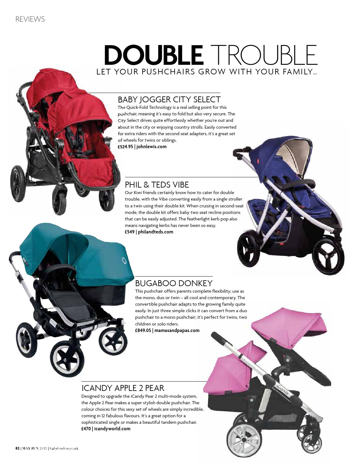 Phil And Teds Double Buggy Vibe Baby London May June 2015 By The Chelsea Magazine Company