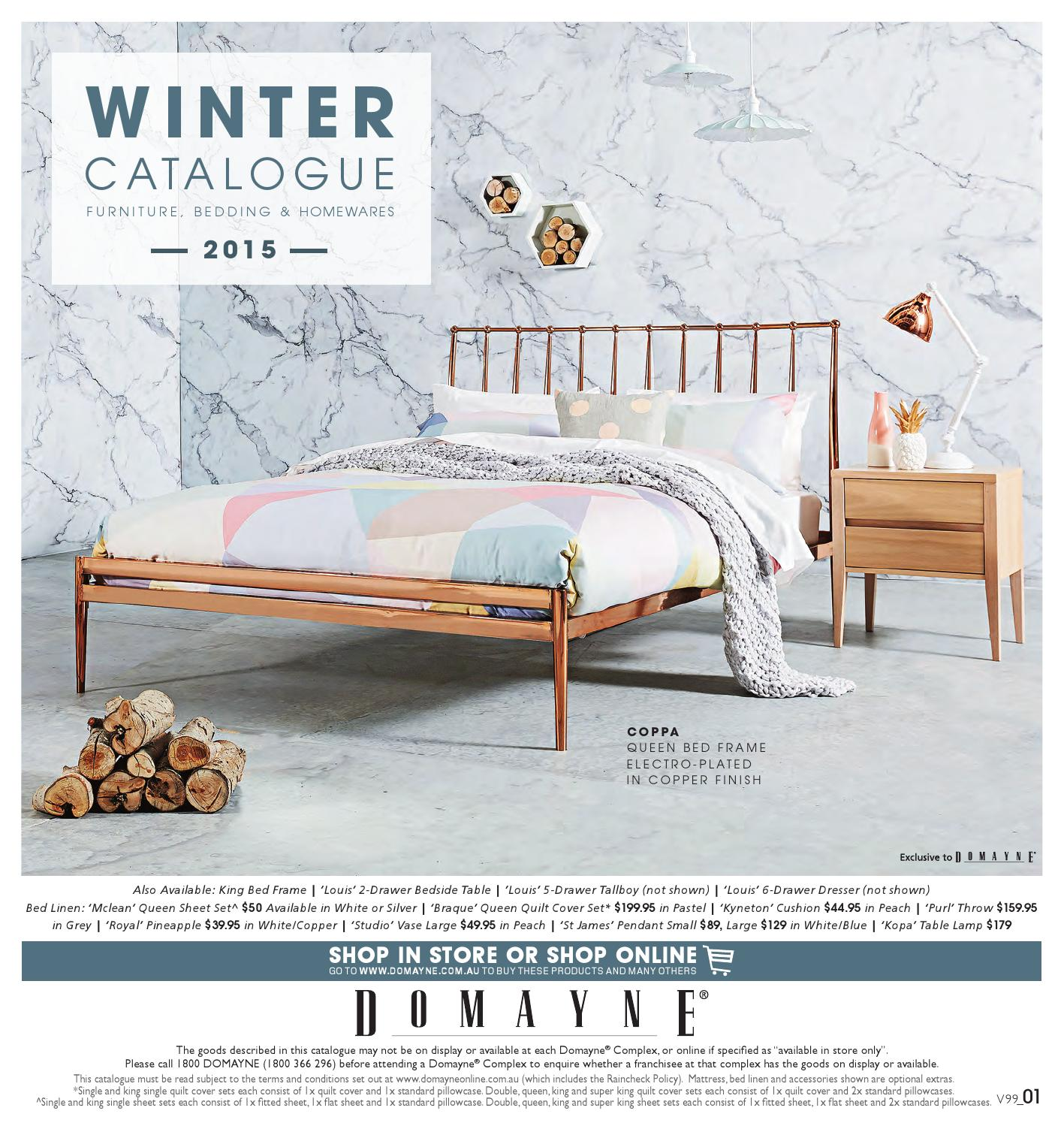 Domayne Beds Catalogue Winter Catalogue Furniture Bedding And Homewares 2015 By