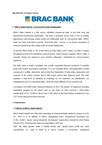 Hr report on brac bank by Md Papon - issuu - hr report
