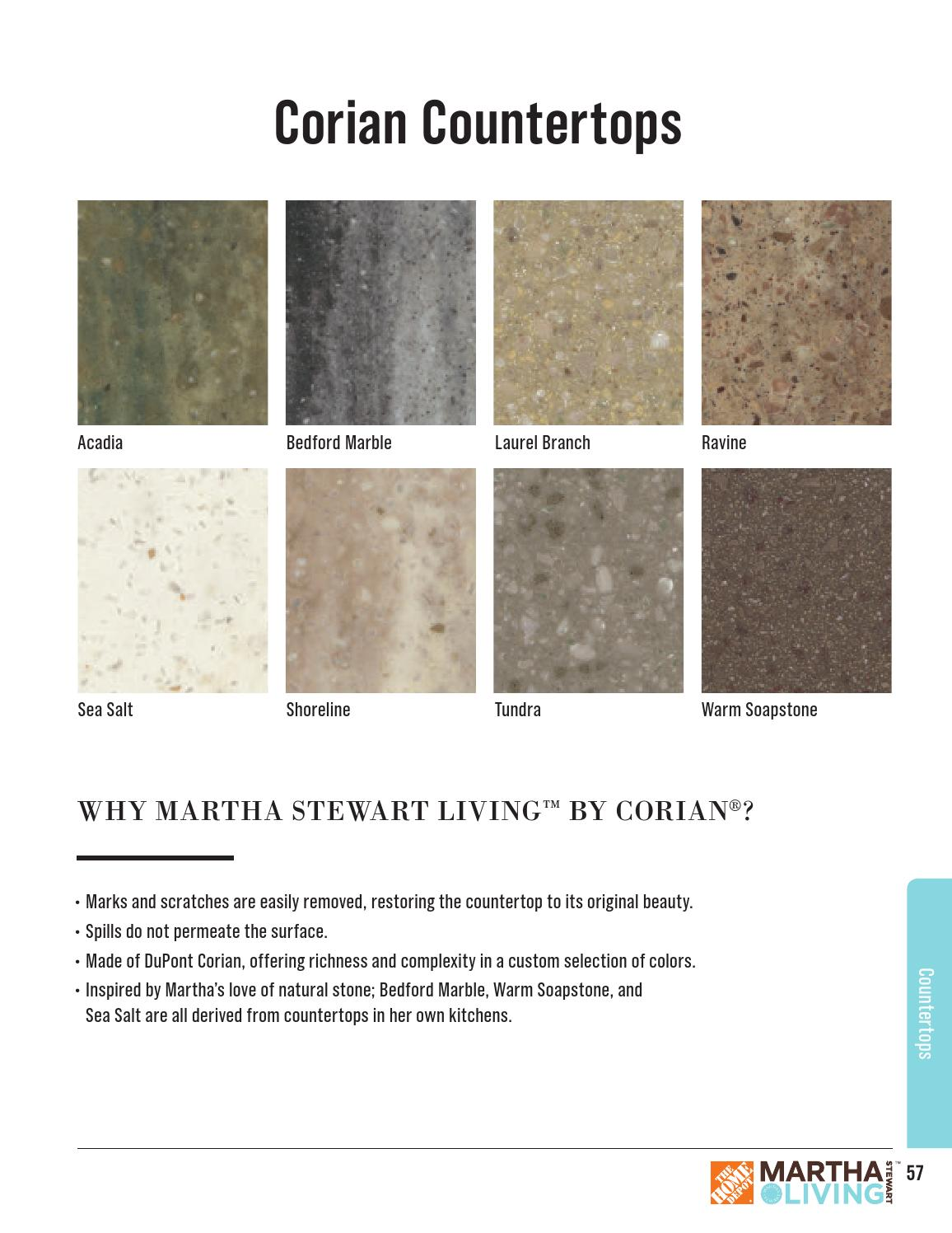 Colors Of Corian Countertops Marth Stewart Living Full Line April 2015 By Martha