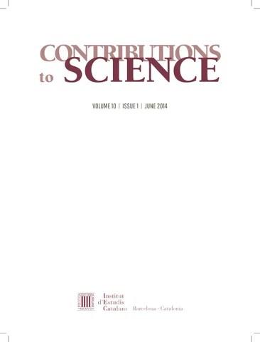 Contributions to Science by Institut d\u0027Estudis Catalans - issuu