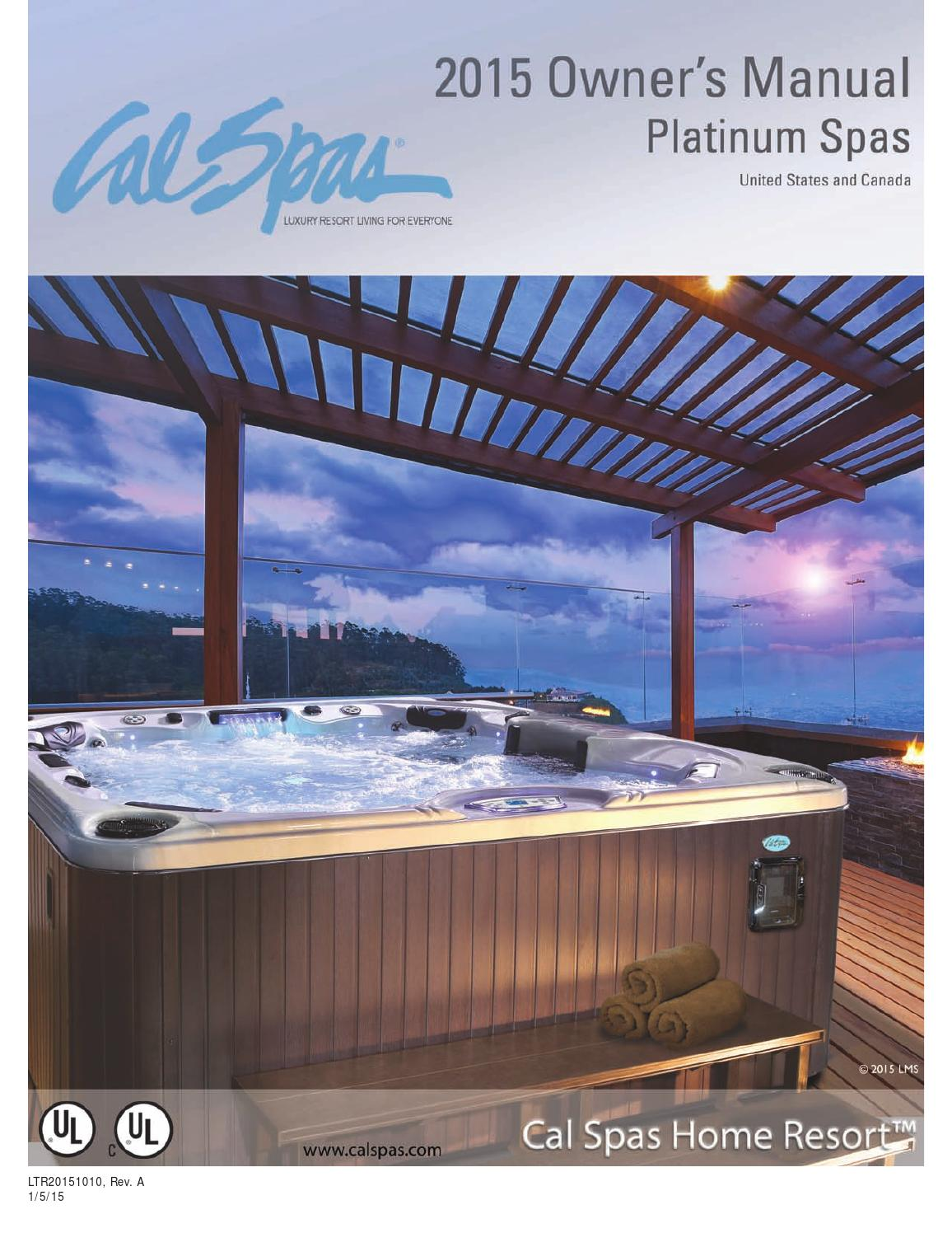 Jacuzzi Pool Filter Manual 2015 Platinum Spa Owner S Manual By Groupe Sima Issuu