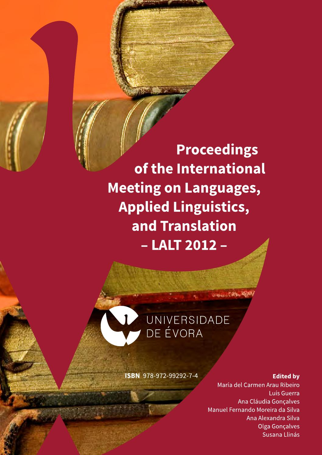 Fui A La Cocina Translation Lalt2012 Proceedings Of The International Meeting On Languages