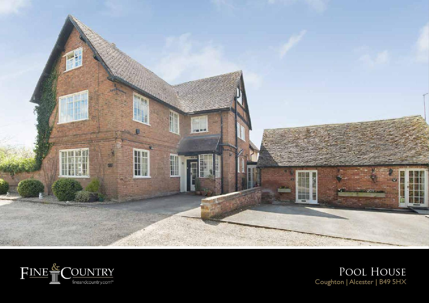 Bed And Breakfast Alcester Pool House Coughton Alcester By Fine And Country Studio Issuu
