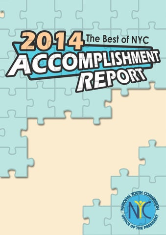 National Youth Commission 2014 Accomplishment Report by sarah grutas