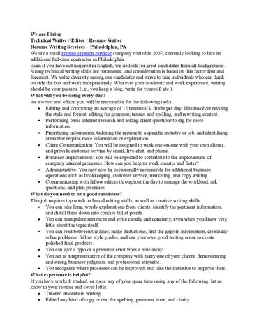 Resume creation service by Resumetointerview - issuu