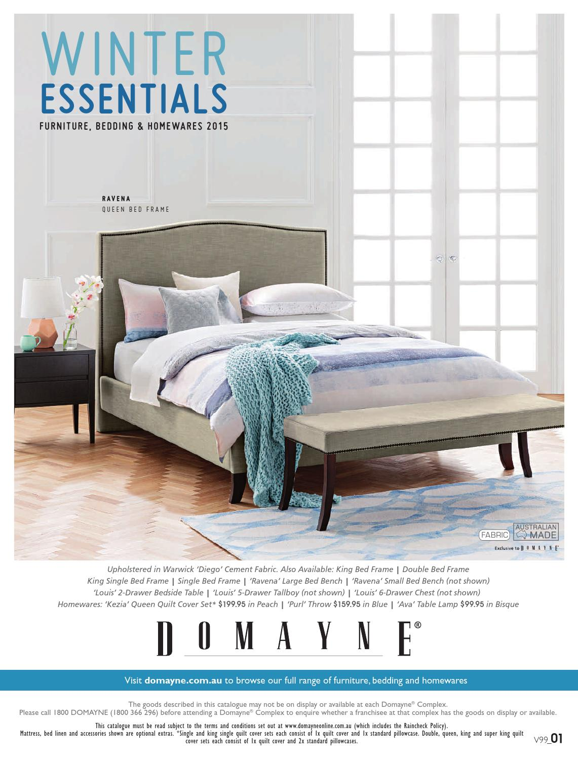 Domayne Beds Catalogue Winter Essentials Furniture Bedding And Homewares By