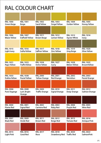 Ral Color 1- 3 by james Lau - issuu - ral color chart