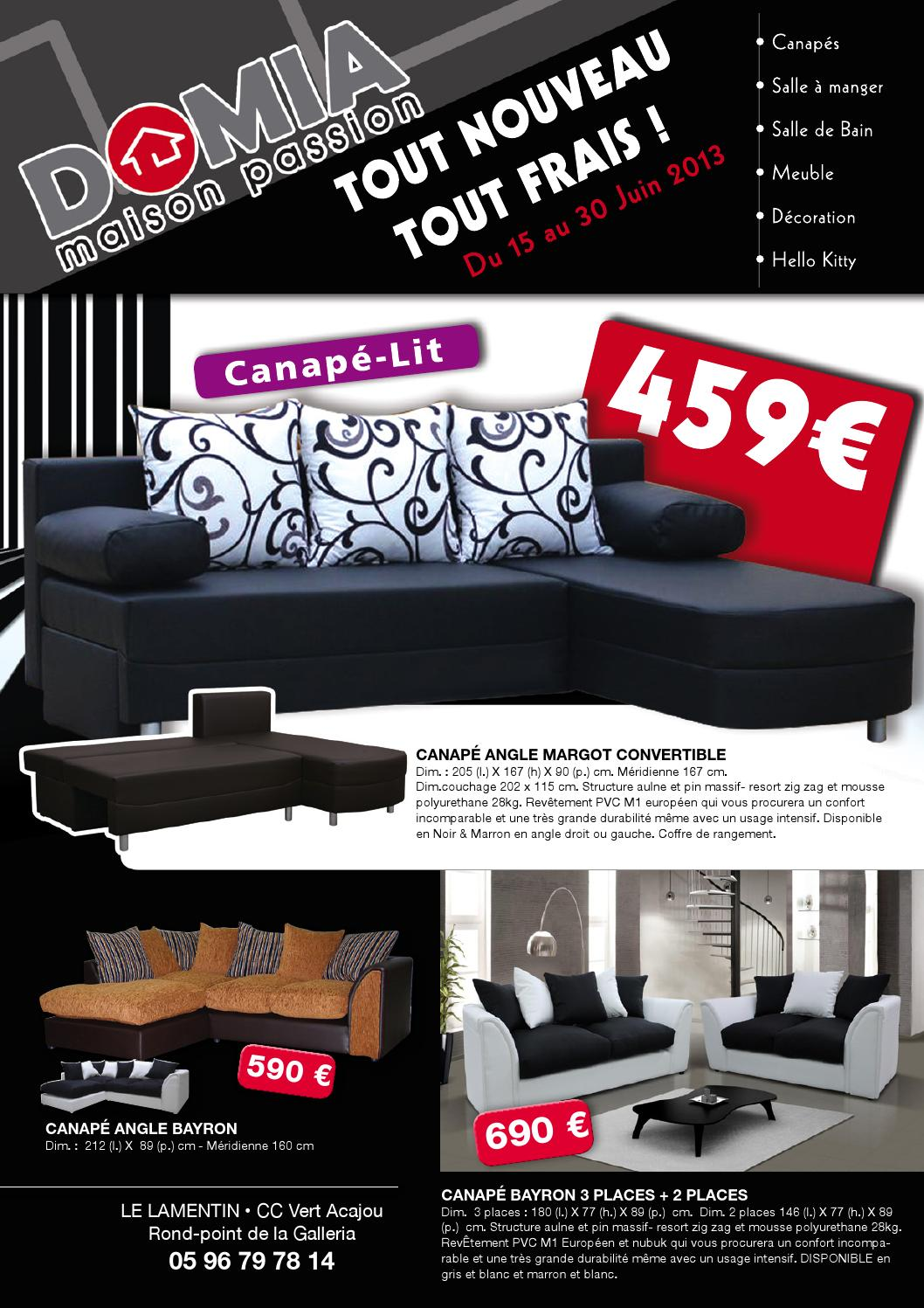 Canape Convertible Usage Intensif Catalogue Domia Juin 2013 By Domia Issuu