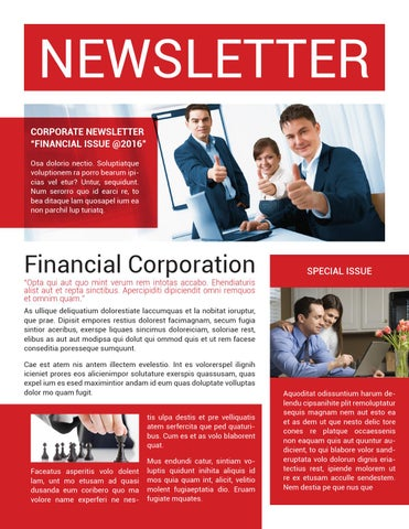 Corporate newsletter template by voryu - issuu - corporate newsletter template