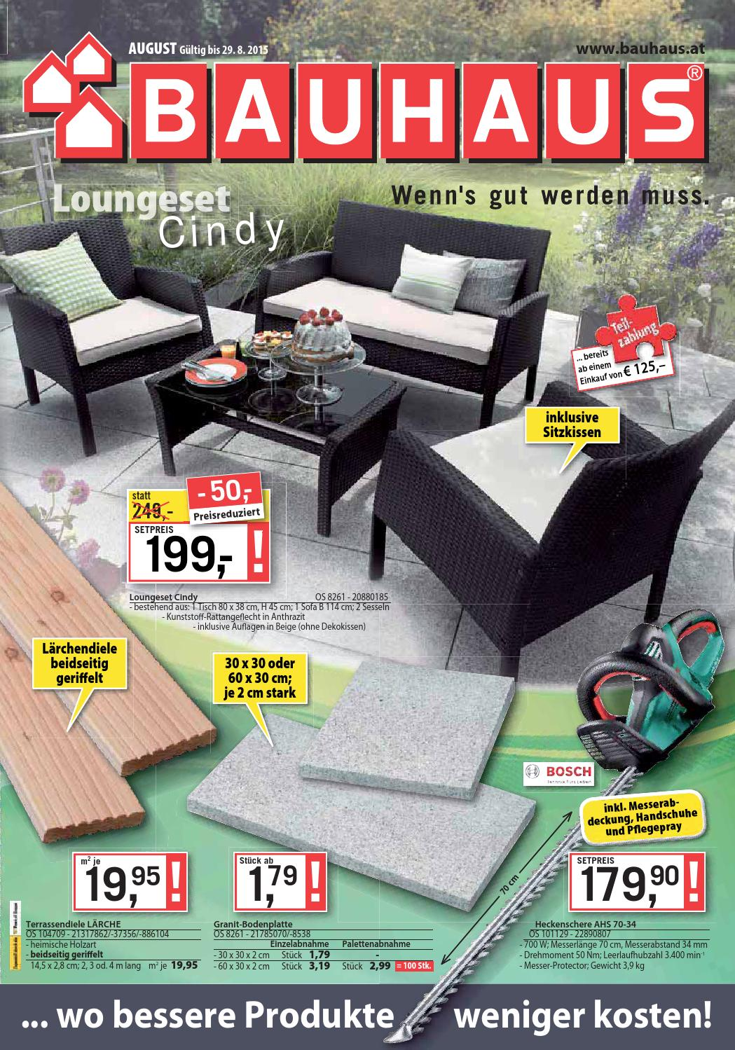 Lärche Terrassendielen Bauhaus Bauhaus Angebote 2 29august2015 By Promoangebote At Issuu