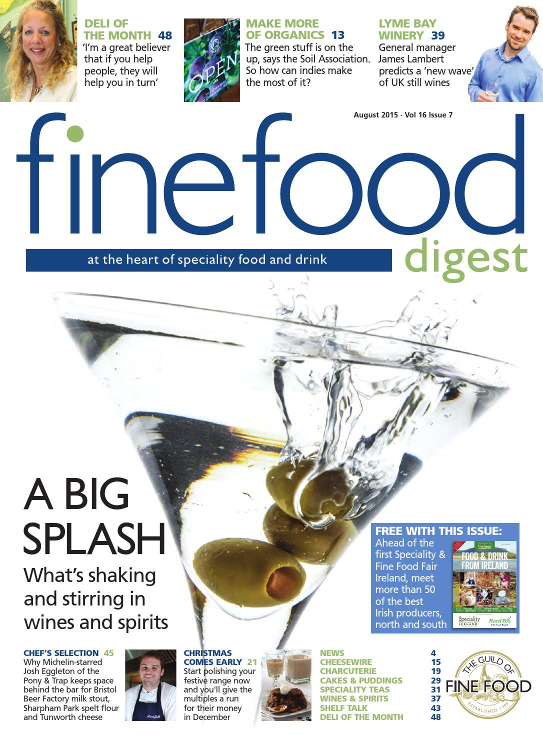Restoconnection Ffd August 2015 By Guild Of Fine Food Issuu