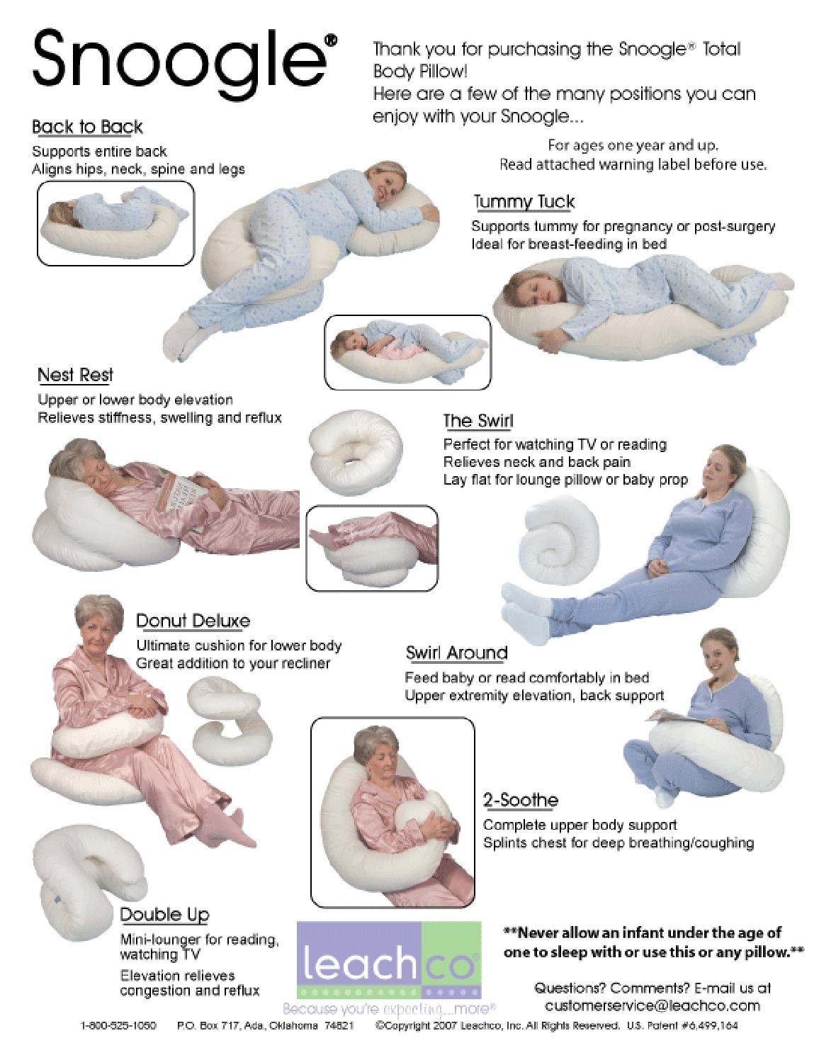 Leachco Snoogle Total Body Pillow How To Use Leachco Snoogle Total Body Pillow By Body Pillow