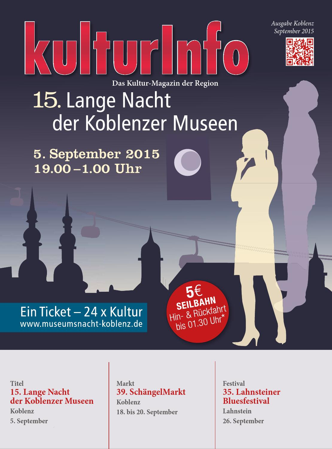 Kulturinfo Ausgabe September 2015 By Kulturverlag Koblenz Issuu