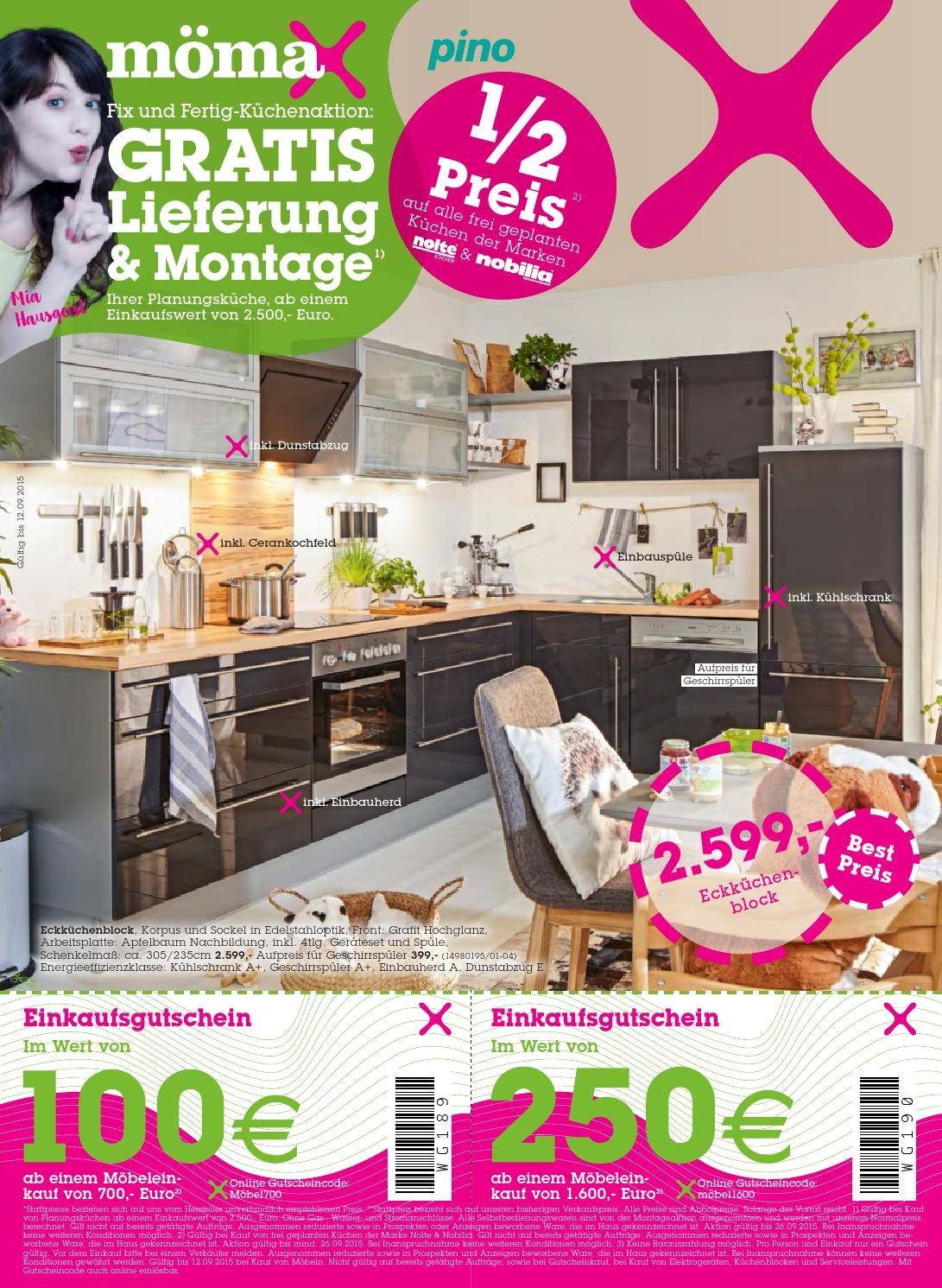 Mömax Küchen Aktion Moemax Angebote 31august 12september2015 By Promoangebote At Issuu