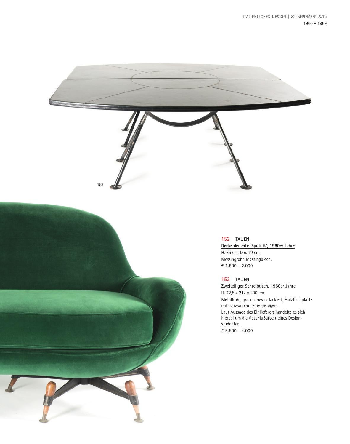 Designer Schreibtisch Italien Auction 122a Italian Design Quittenbaum Art Auctions By