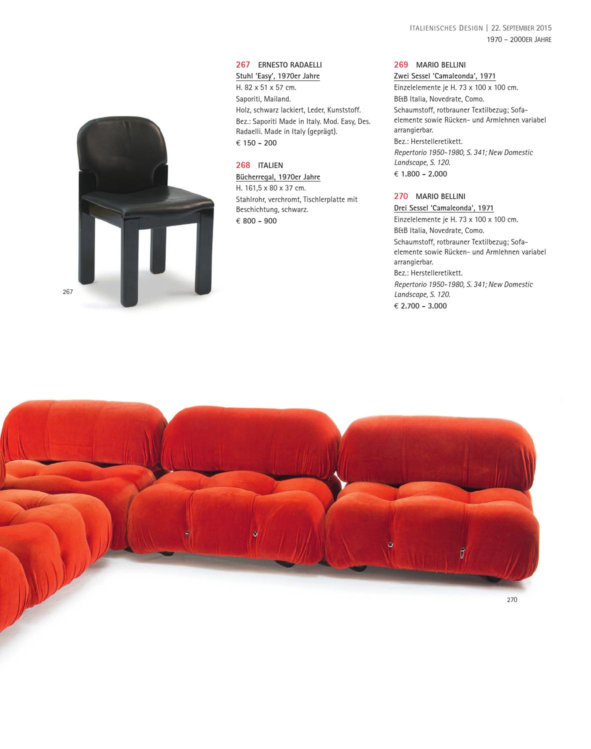 Saporiti Italia Designer Sessel Auction 122a Italian Design Quittenbaum Art Auctions By
