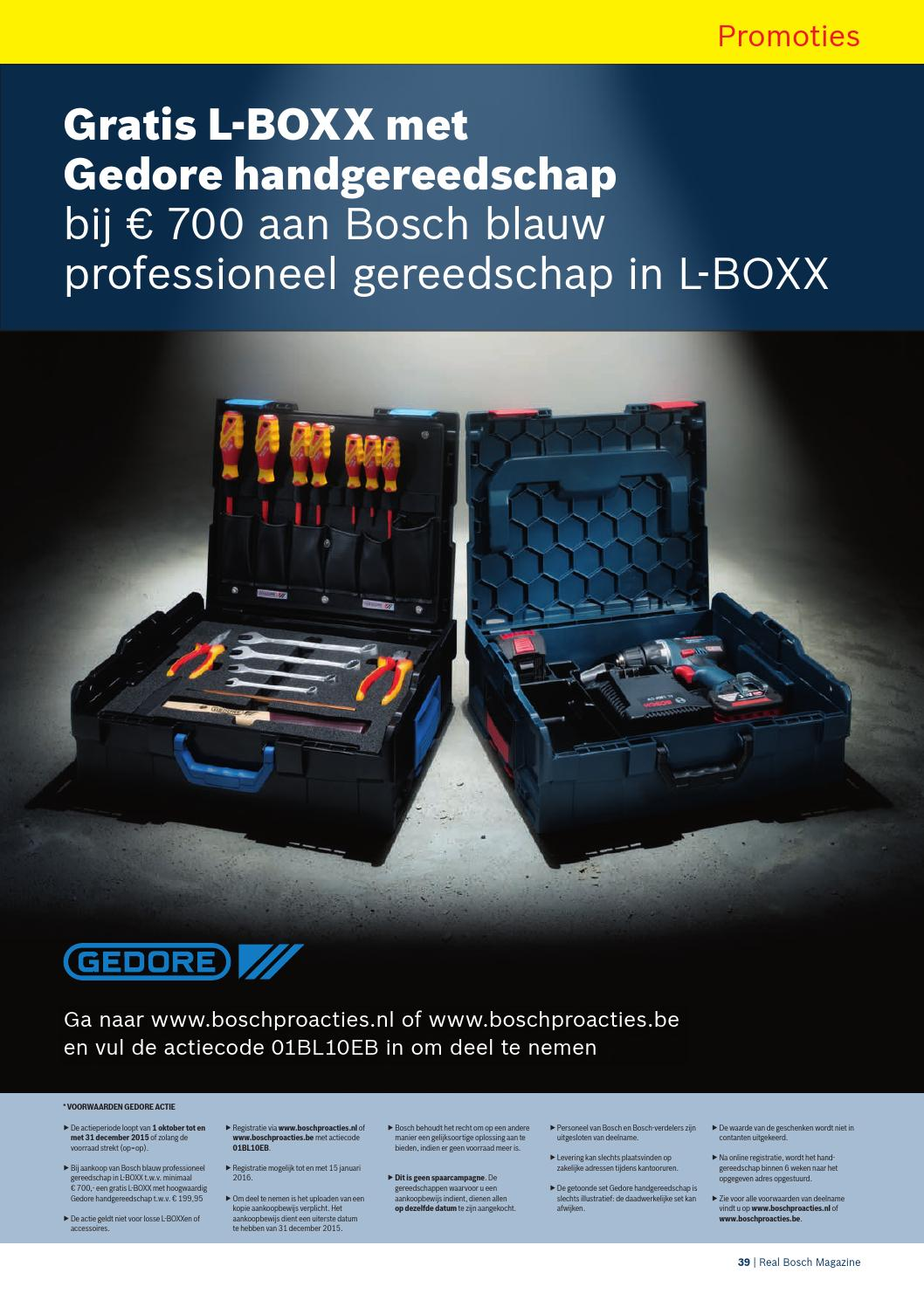 Bosch Blauw Actie Bosch Promo September December 2015 By Peter Goossens Issuu