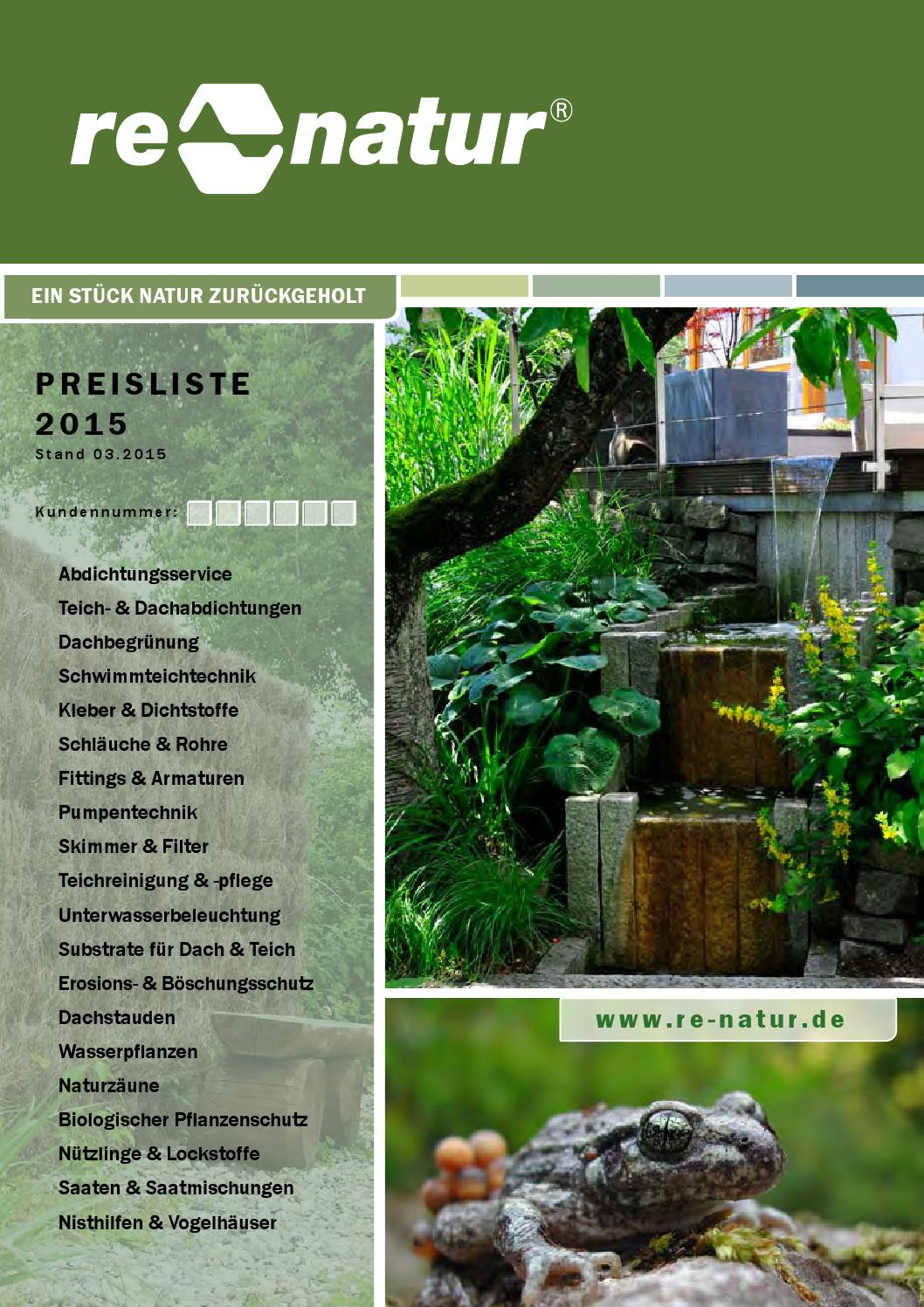 Re Natur Preisliste 2015 By Re Natur Issuu