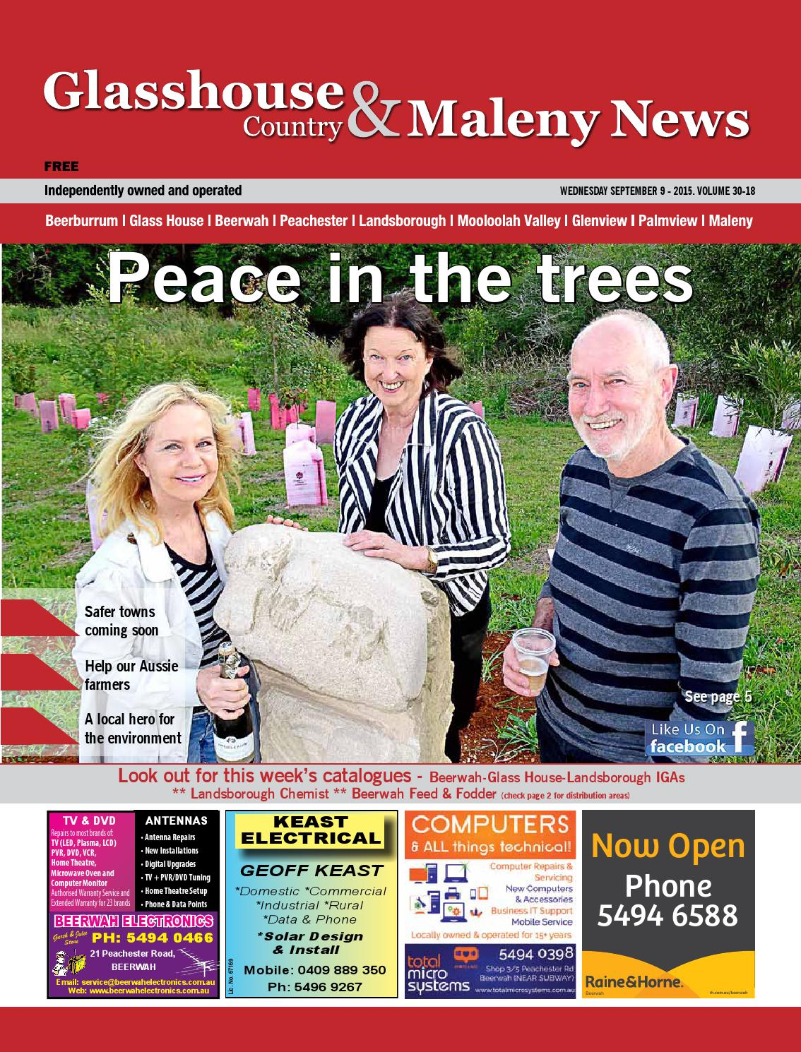 Edition 9th September 2015 By Glasshouse Country Maleny News Issuu