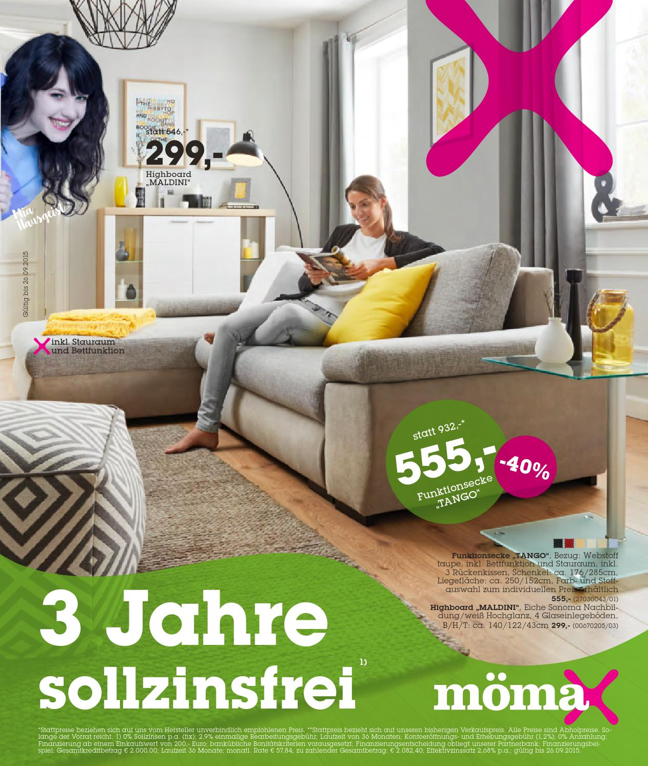 Ausziehbett Mömax Moemax Angebote 14 26september2015 By Promoangebote At Issuu