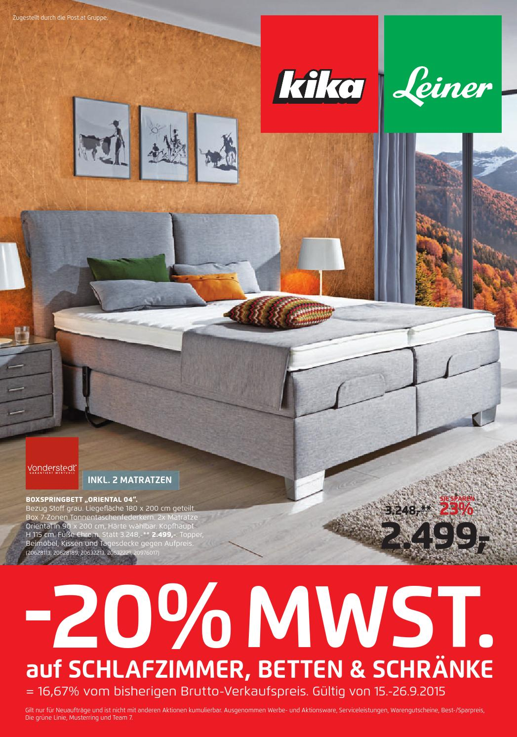 Schlafzimmer Set Kika Kika Angebote 15 26september2015 By Promoangebote At Issuu