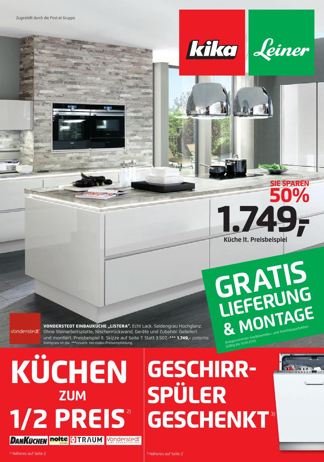 Küchen Angebote Leiner Kika Angebote 21september 10october2015 By Promoangebote At Issuu
