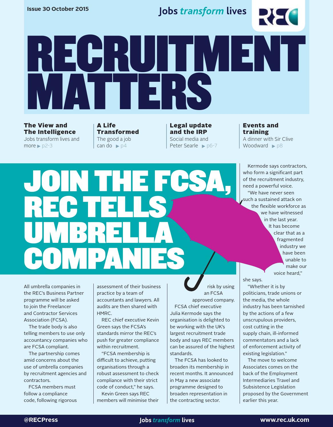 Accountancy Recruitment Agencies Recruitment Matters October 2015 By Redactive Media Group Issuu