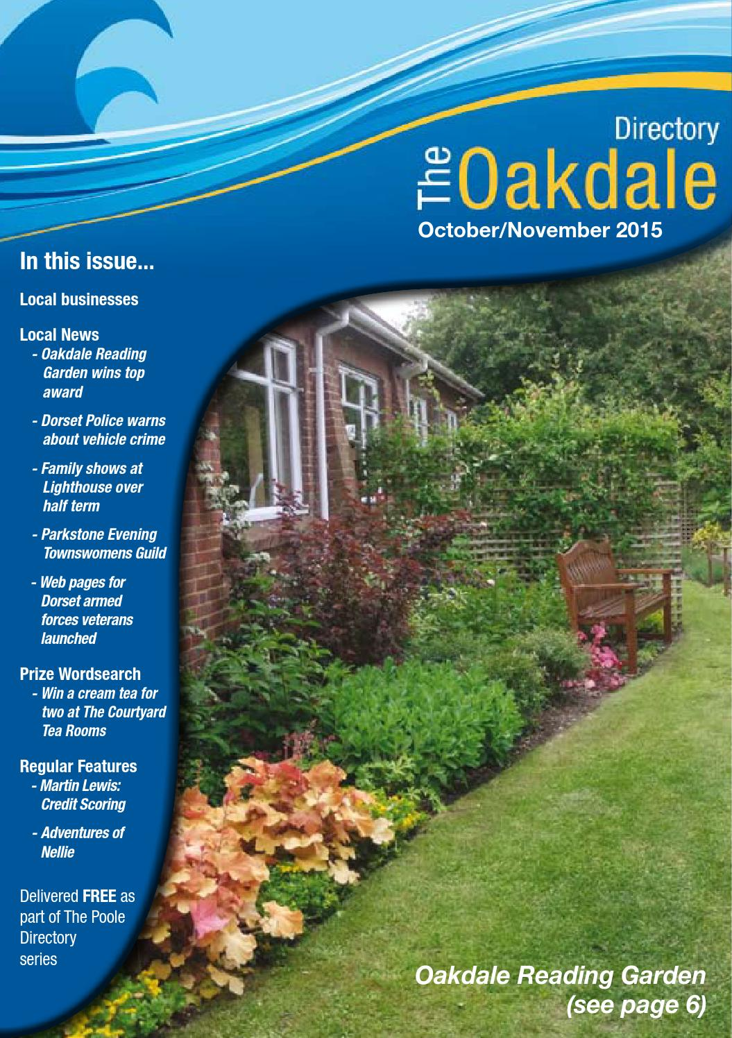 The Oakdale Directory October November 2015 By Dorset - Garden Furniture Clearance Poole Dorset
