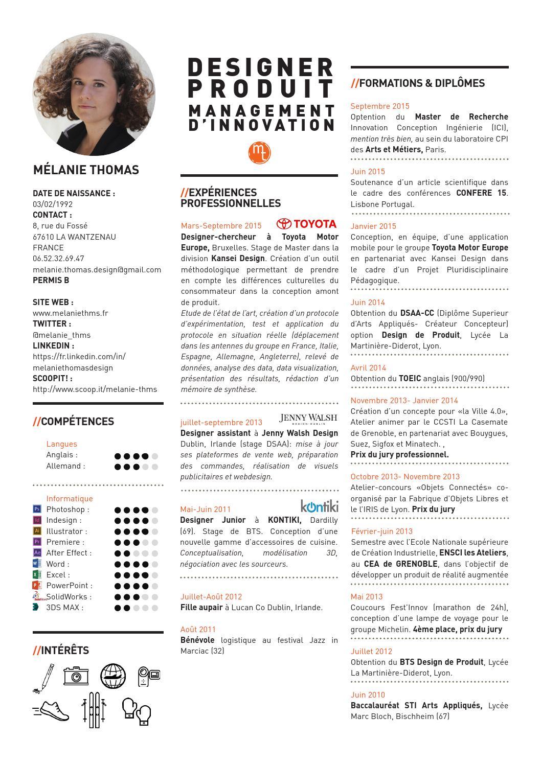 cv designer allemand