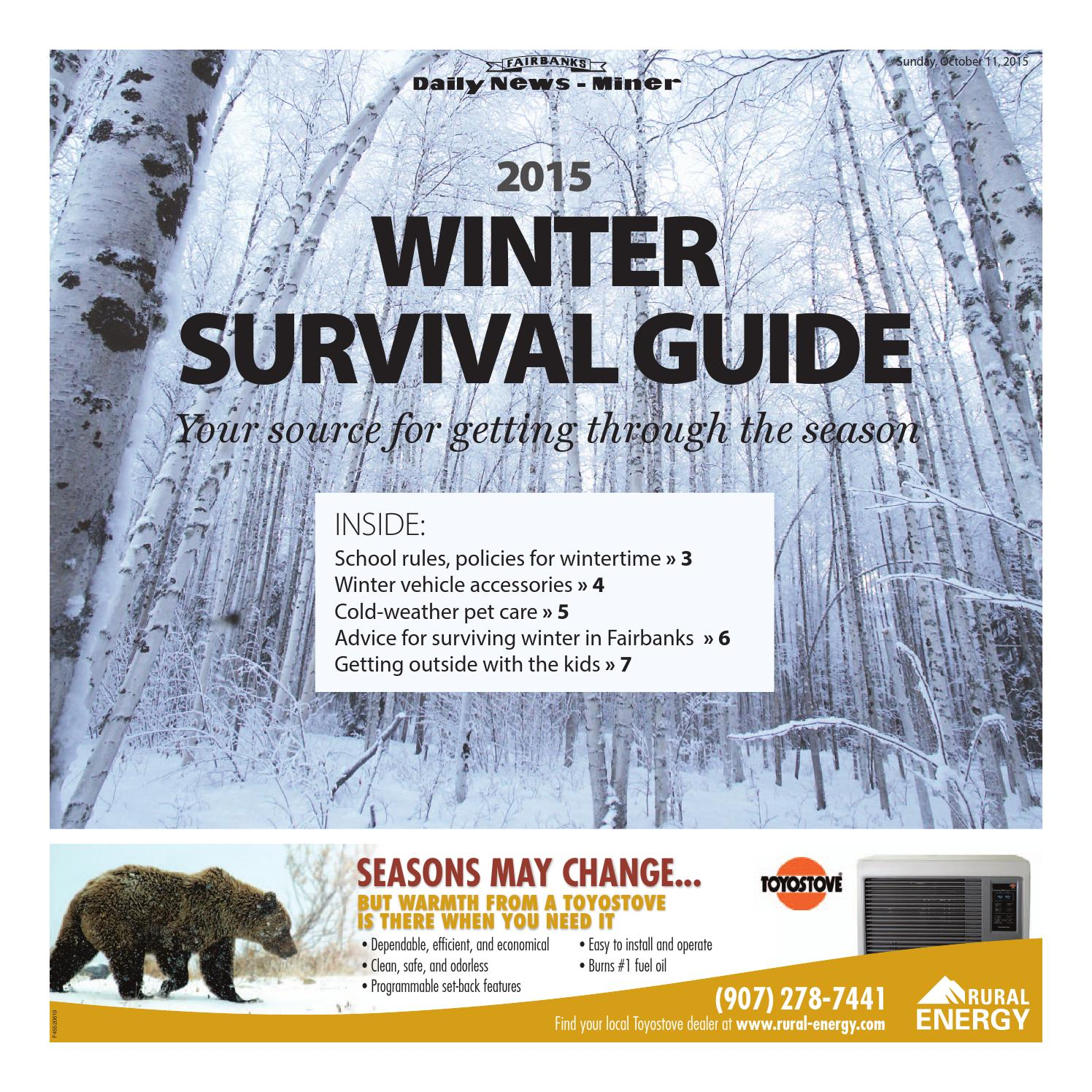 Faltbank Winter Survival Guide 2015 By Fairbanks Daily News Miner Issuu