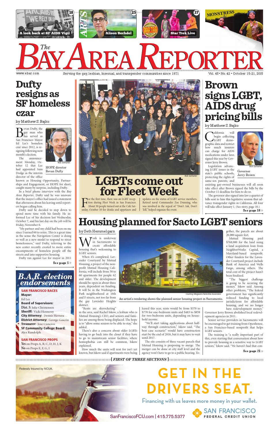 October 15 2015 Edition Of The Bay Area Reporter By Bay Area Reporter Issuu