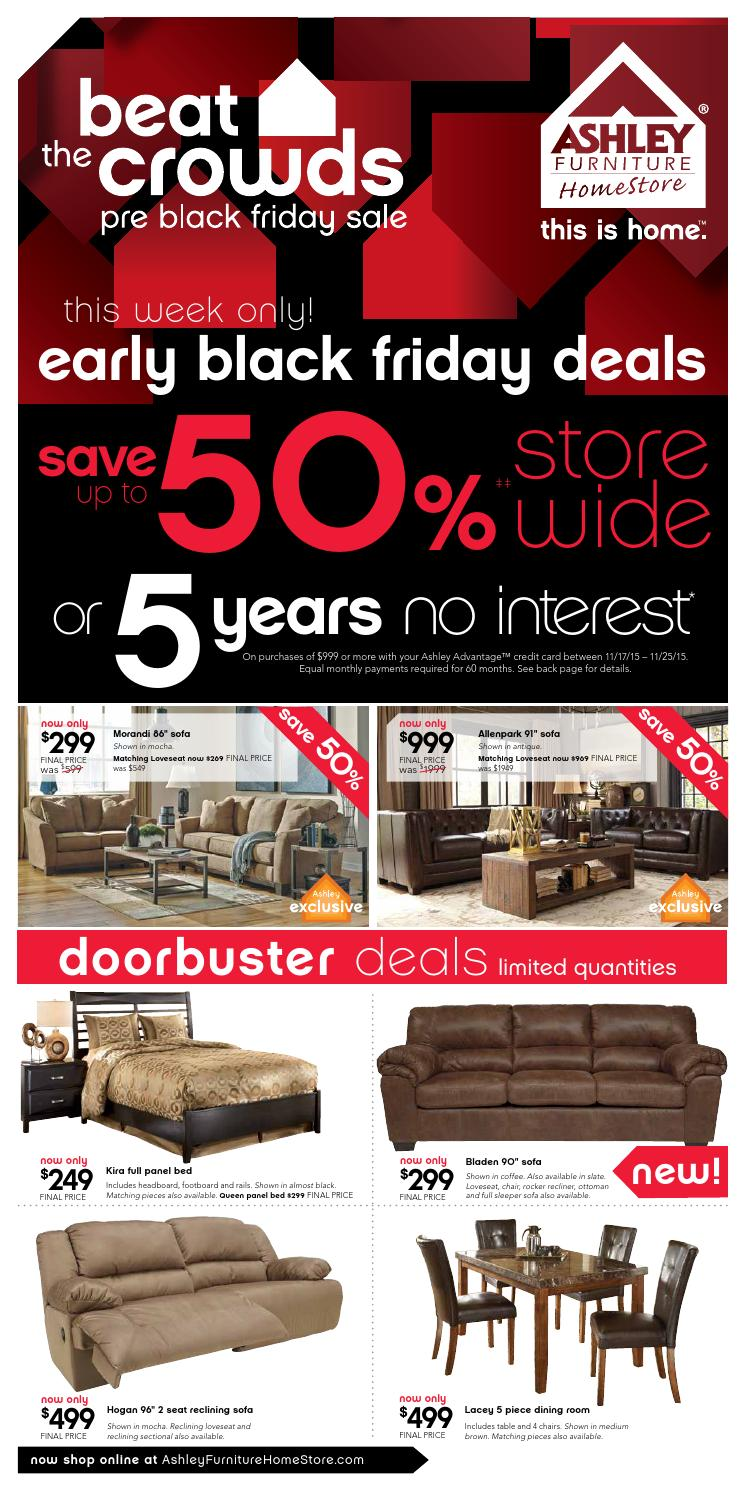 Ashley Furniture Pre Black Friday Sales Beat The Crowds Pre Black Friday Sale By Ashley Furniture