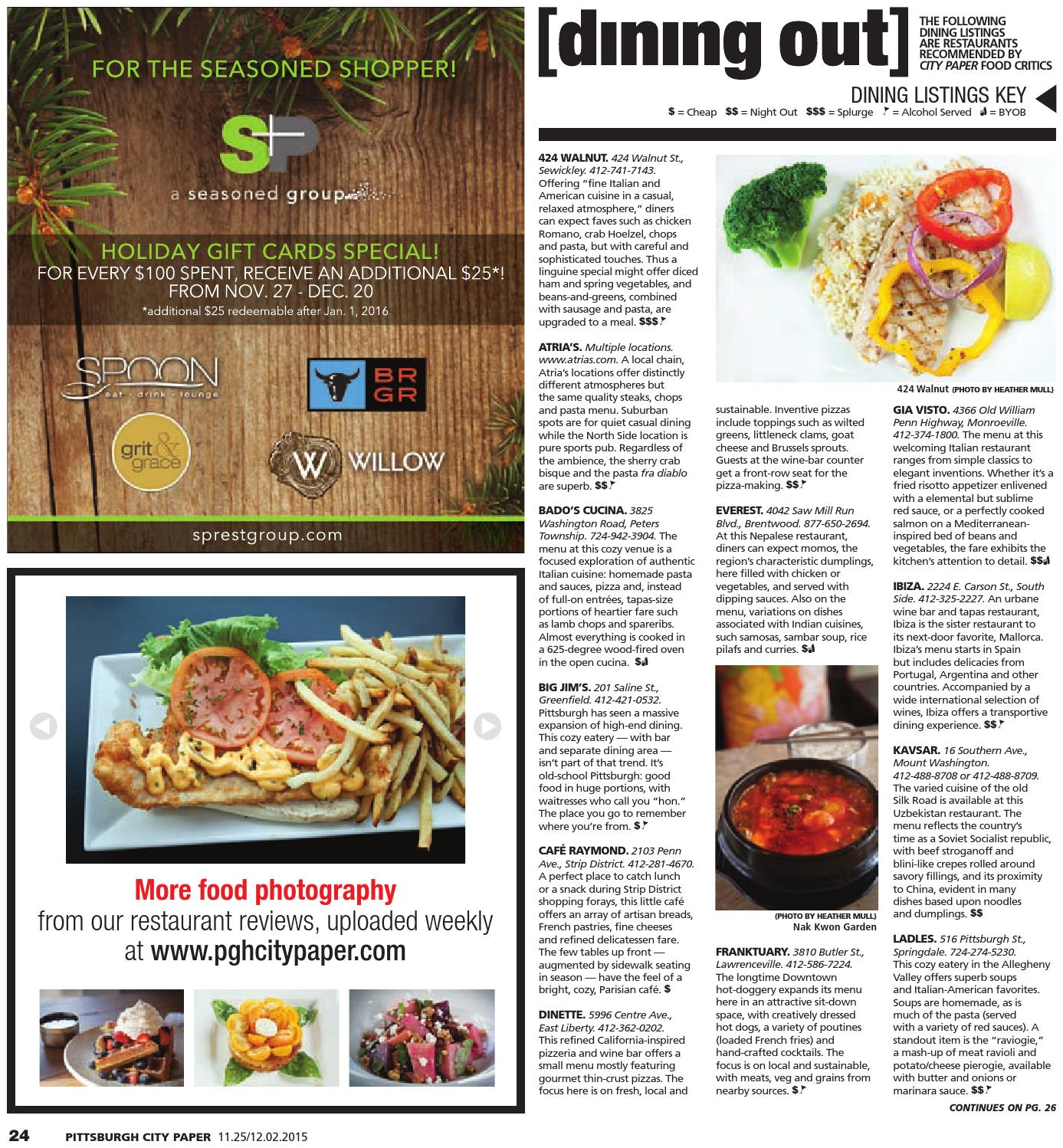 Cucina A Gas Raymond November 25 2015 Pittsburgh City Paper