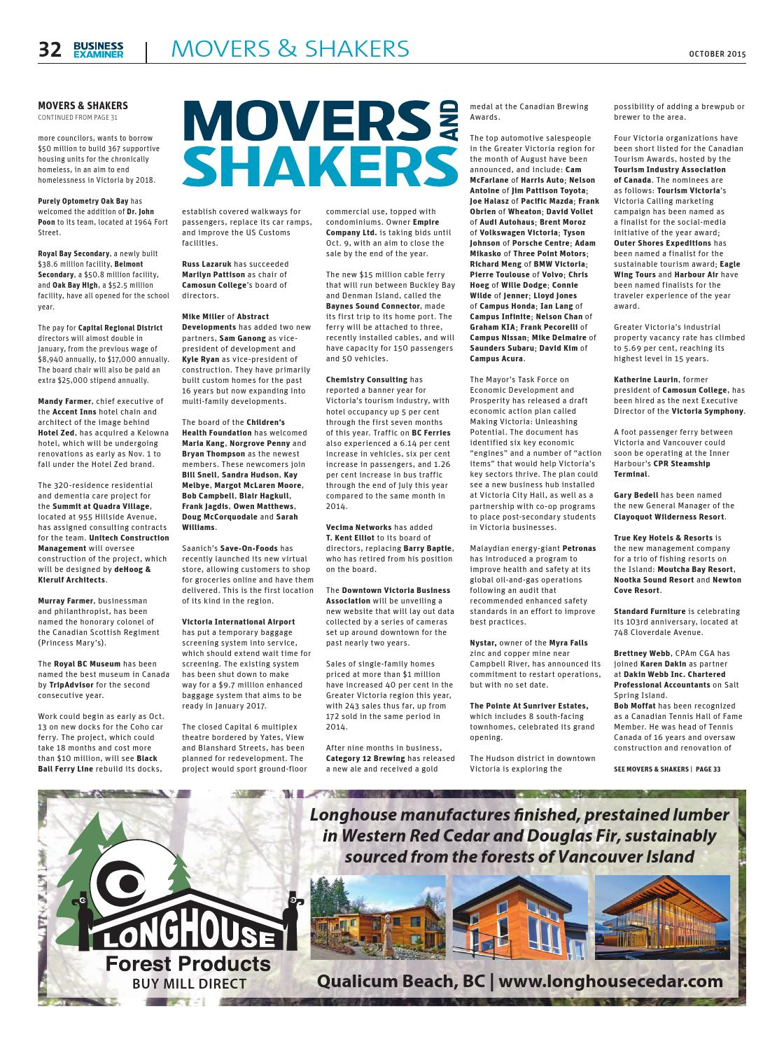 Unitech Construction & Renovation Ltd Business Examiner Victoria October 2015 By Business