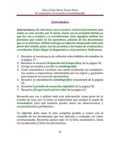 9 Cuestionarios, encuestas y autobiografía by Tessie Silva - issuu - formato de informe escrito