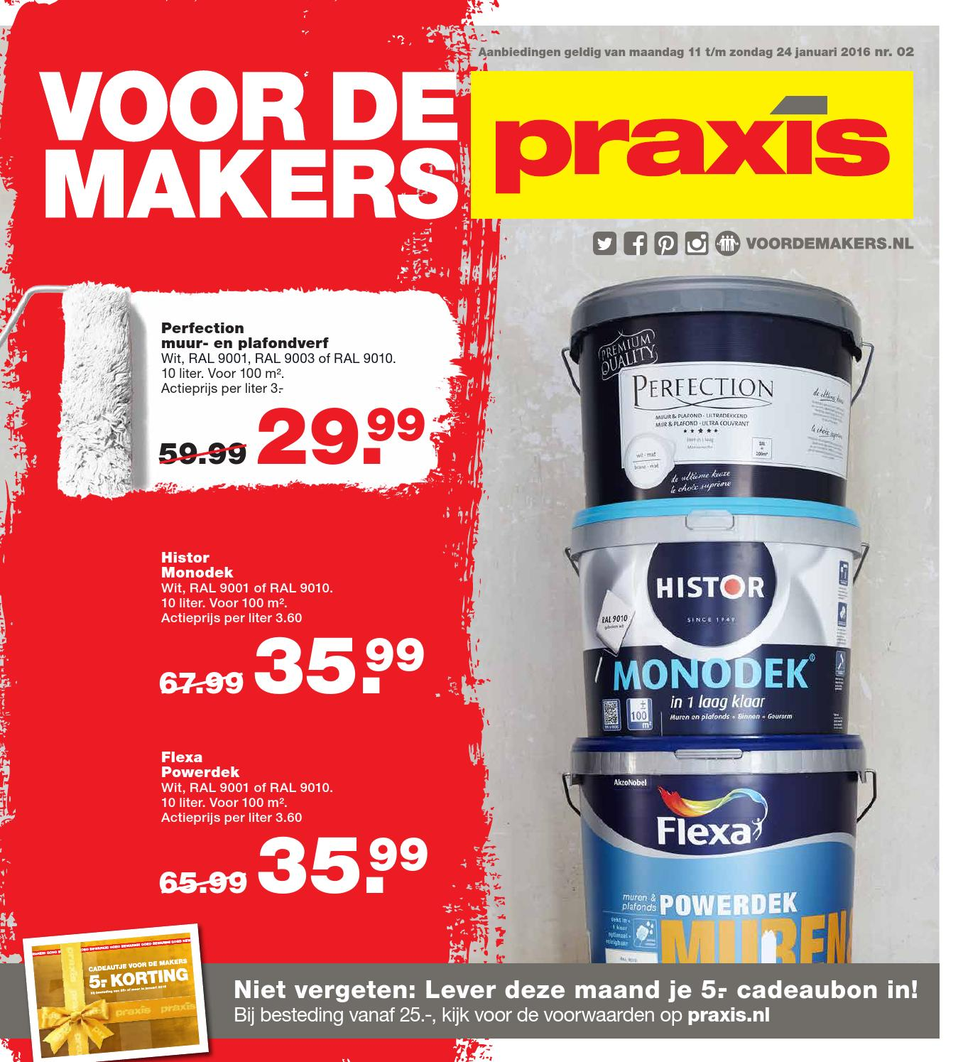 Flexa Strak In De Lak Aanbieding Praxis Praxis Folder Week 2 2016 By Online Folders Issuu