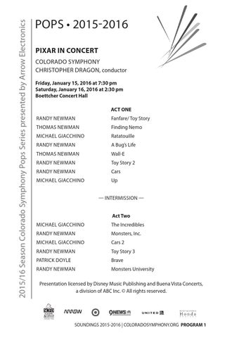 Pixar In Concert Program Notes by Colorado Symphony - issuu