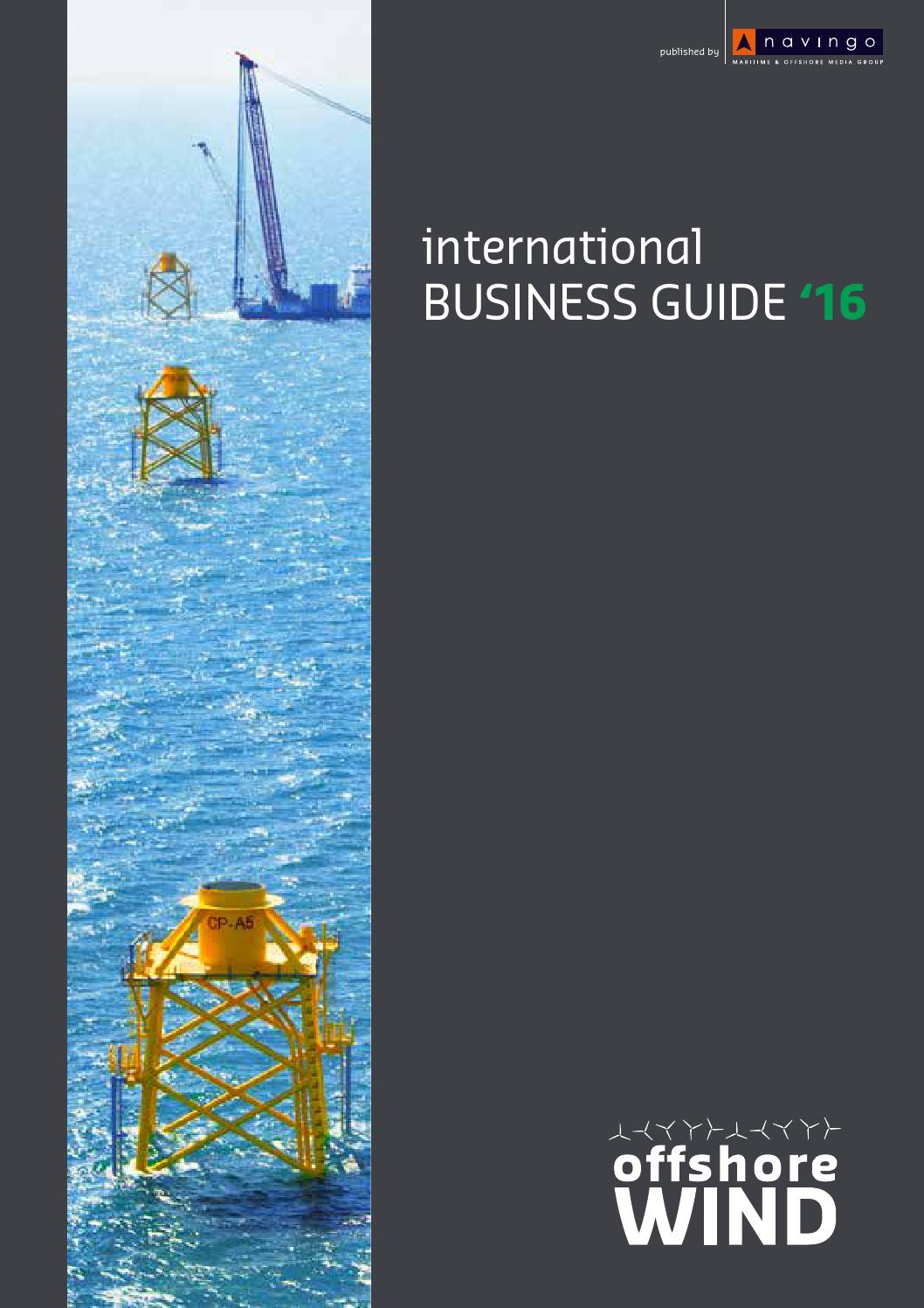 Location Nacelle Brest Offshore Wind International Business Guide 2016 By Navingo Bv Issuu