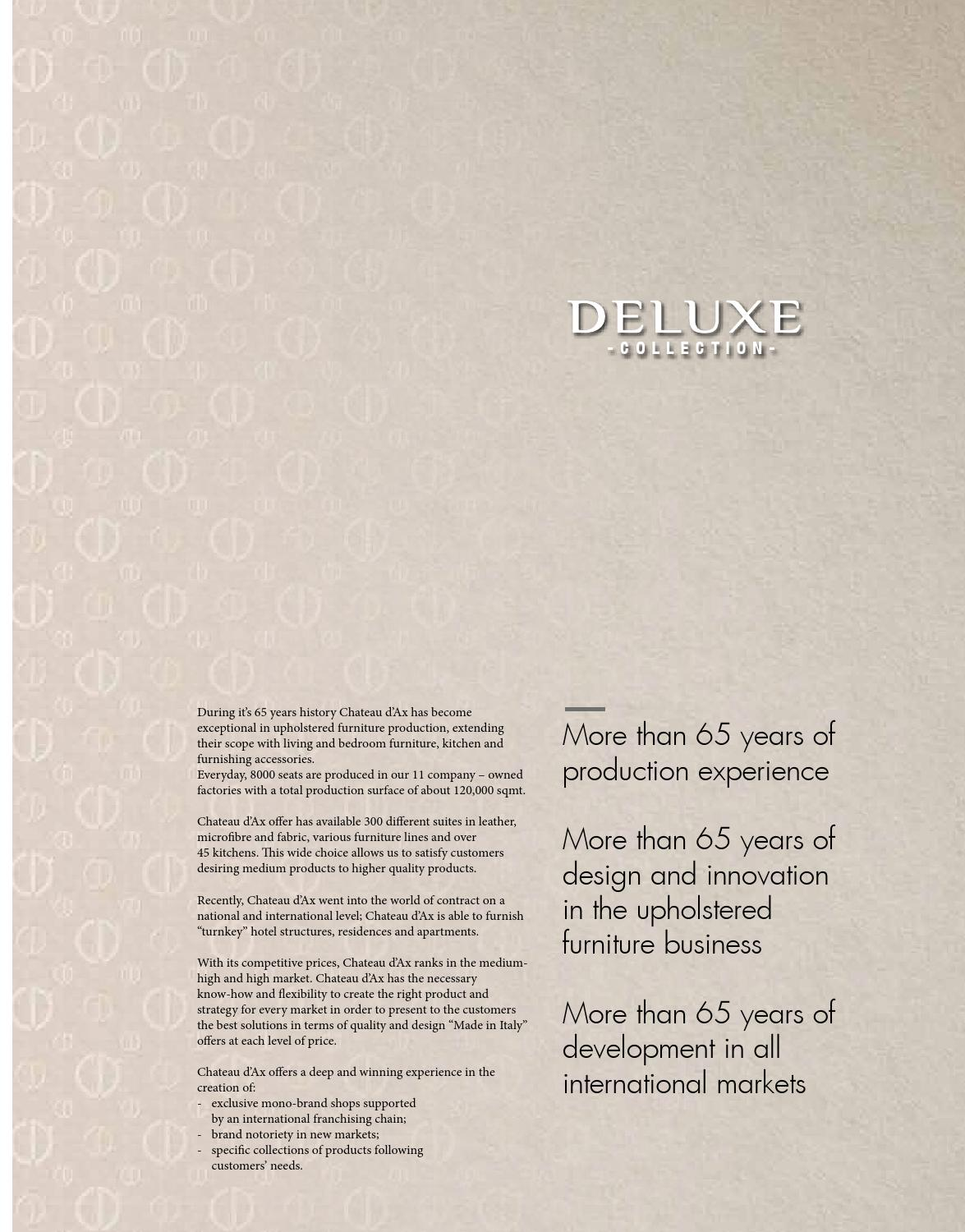 Seats And Sofas Genk Chateau D Ax Catalogo Deluxe Sofas 2014 By Decointeriors Issuu