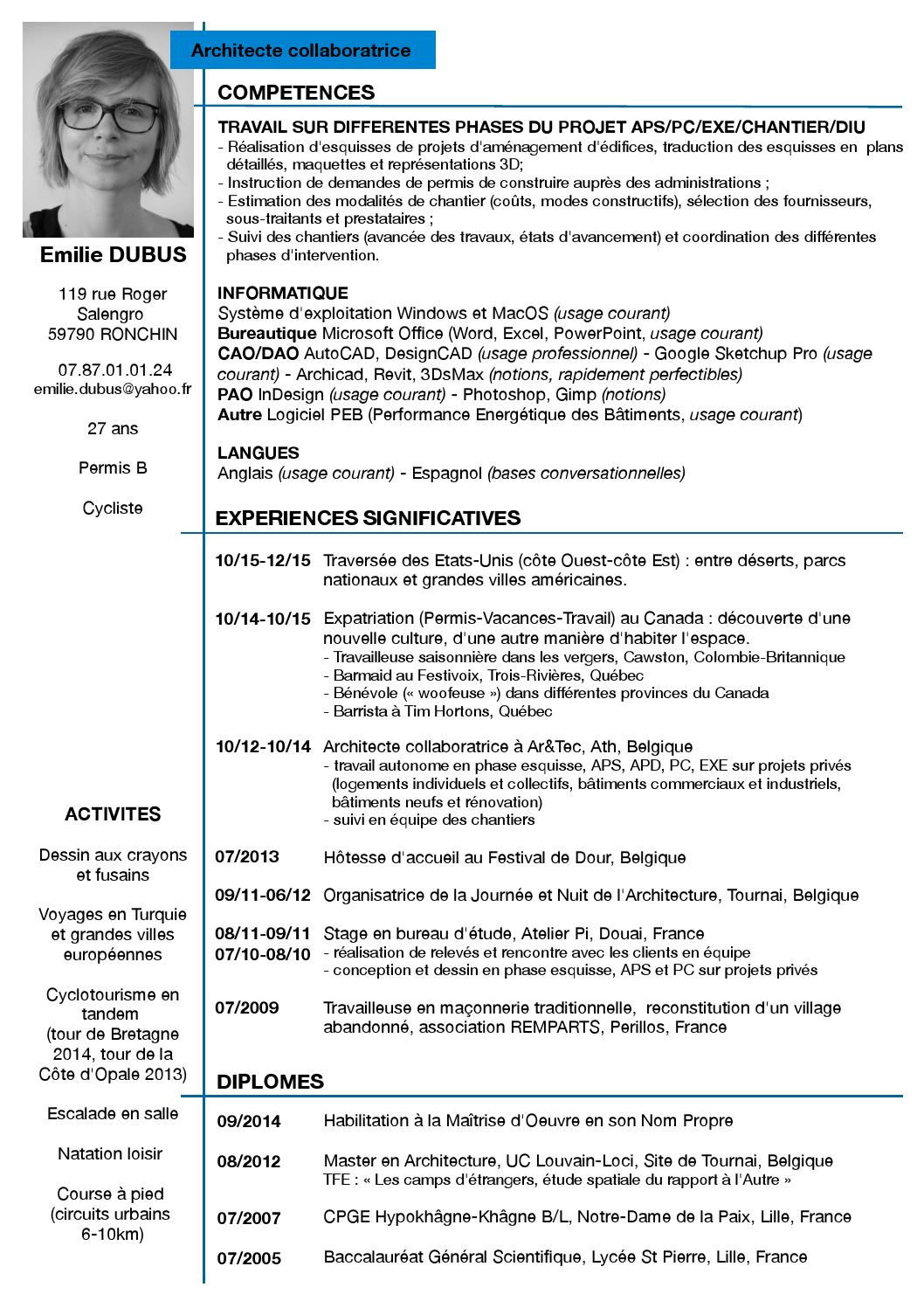 traduction competences informatique cv anglais