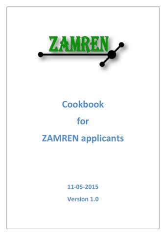 Cookbook for ZAMREN applicants by GÉANT Publish - issuu