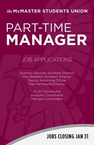 Part-Time Manager Job Summaries #3 by MSU McMaster - issuu - job summaries