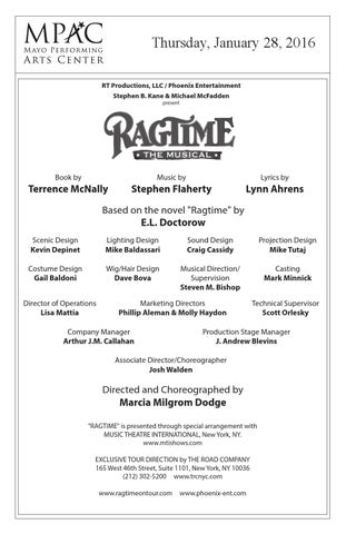 RAGTIME THE MUSICAL by Blumenthal Performing Arts - issuu