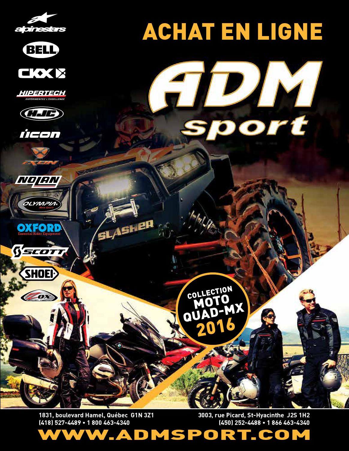 Catalogue Collection Moto Quad Mx 2016 By Adm Sport Issuu