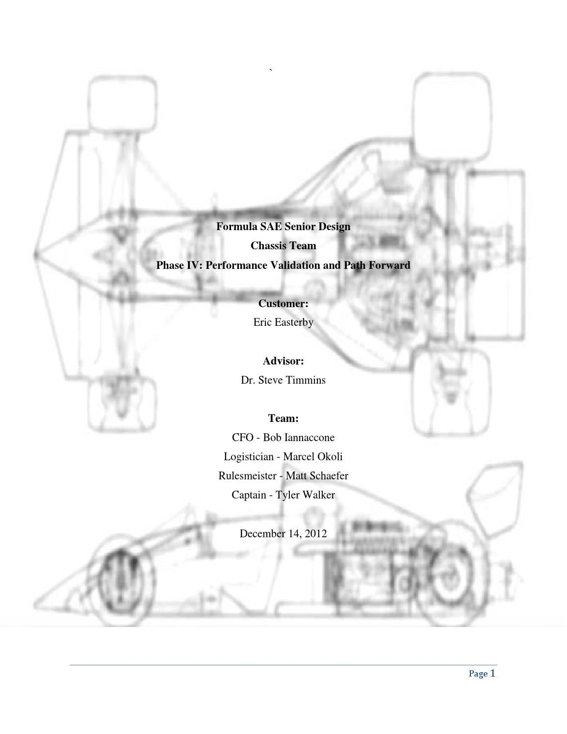 Suspension Design Report Fsae Chassis Design And Manufacturing By Marcel Okoli Issuu