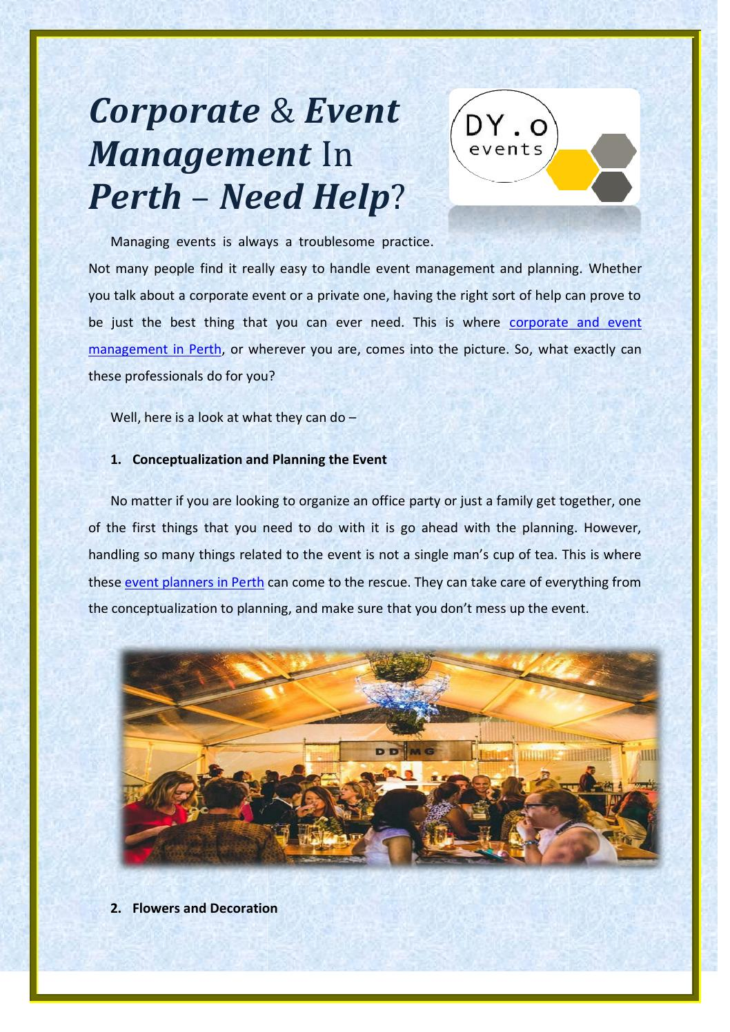 Party Planners Perth Corporate Event Management In Perth Need Help By Dyoevents0