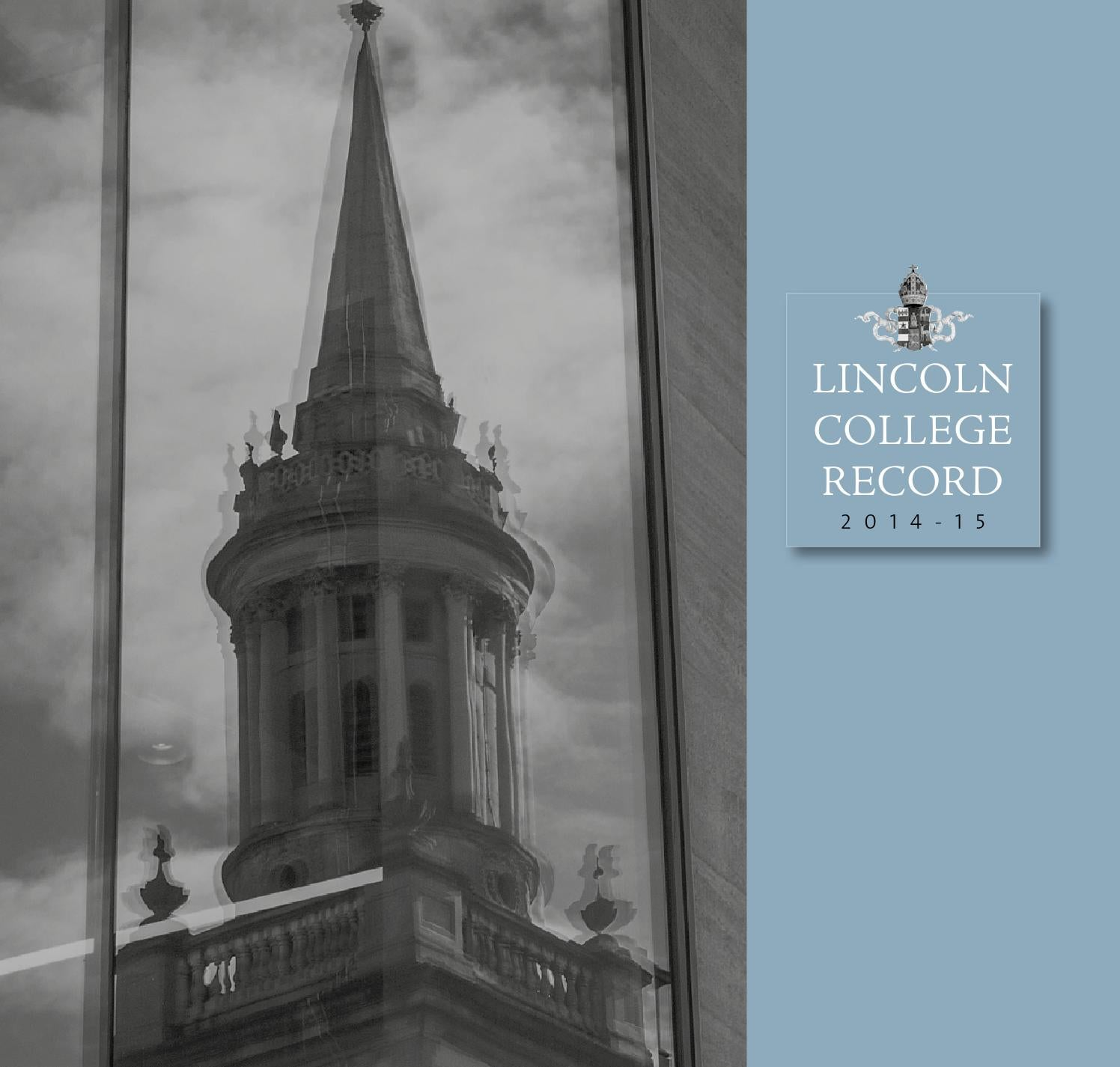 Lincoln College Normal Lincoln College Record 2014 15 By Lincoln College Issuu